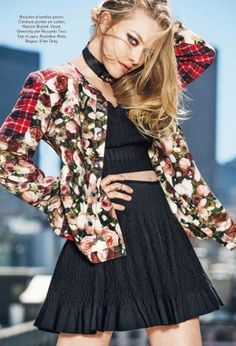 Amanda Seyfried In 90s-Inspired Plaid and Floral Looks For Glamour Paris