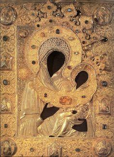Оклад иконы Бцы Тихвинская, нач. XVII в. | Flickr - Photo Sharing!