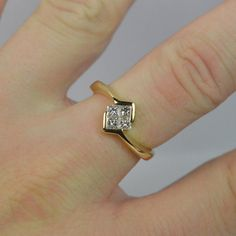 VS 0.40ct Diamond 18ct Gold Ladies Cluster by FineQualityJewellery