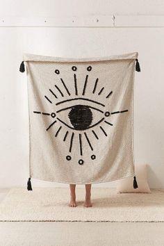 Tufted Eye Throw Blanket