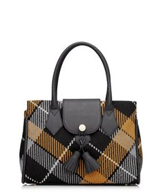 Winter Tartan mustard knit grab bag Sale - Vivienne Westwood Sale