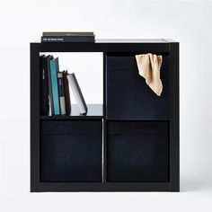 IKEA DRÖNA Box, black ($5.99) ❤ liked on Polyvore featuring home, home decor, small item storage, black home decor, black box and recycled boxes
