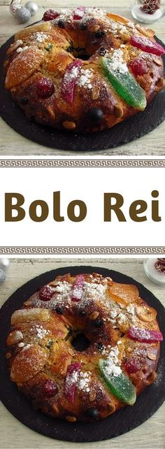 If you like to make homemade cakes, prepare this delicious and traditional Portuguese king cake for your family on Christmas Day. Apple Recipes, New Recipes, Sweet Recipes, Cake Recipes, Portuguese Desserts, Portuguese Recipes, Portuguese Food, Mardi Gras Food, Christmas Biscuits