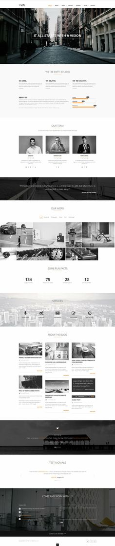 Patti - Parallax One Page HTML Template by DarkStaLkeRR.devi... on @deviantART