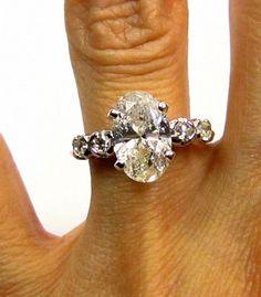 1960s...2.48ct Estate Vintage Oval Cut Diamond by TreasurlybyDima, $6895.00