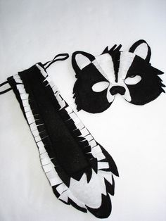 Woodland Animal SKUNK Felt Mask