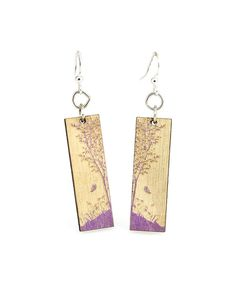 Look at this Purple & Wood Nature Window Drop Earrings on #zulily today!
