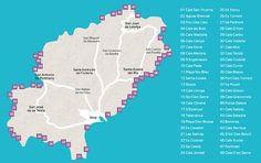 48 Beaches to choose from in Ibiza, Spain. Ibiza Travel, Ibiza Beach, Spain Travel, Beautiful Islands, Beautiful Beaches, Lebanon Beaches, San Antonio Ibiza, Ibiza 2016, Spain
