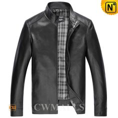 Classic Mens Motorcycle Jackets CW850406 Classic leather motorcycle jacket for men, crafted from fine sheepskin leather to give your best comfort, detailed with full zip front, side pockets, and sleeve cuff with snap buttons, you will feel comfortable in this nice leather motor jackets. www.cwmalls.com PayPal Available (Price: $577.89) Email:sales@cwmalls.com