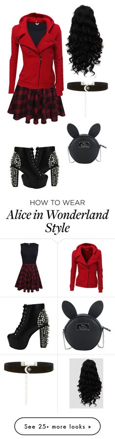 """Random Outfit 12"" by kayla2558 on Polyvore featuring Doublju, Jeffrey Campbell, Disney and New Look"