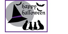 """You can make THIS 21""""x27"""" wall hanging in a day!  This makes a great addition to your holiday décor.  Or make it as a gift for friend or family.  The full kit includes: All... #appliquekit #wallhanging #quiltkit #makeitinaday #funandeasy #halloween #samhain #sew #cats #bats #moon #fusible #prepackaged #precut #binding"""