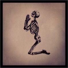 Religion Clothing  #skeleton #kneeling