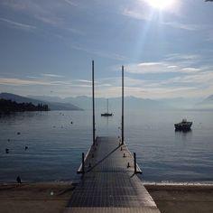 Ouchy le matin (Lausanne, Lac Léman)... #switzerland #suisse