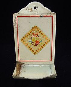Match Safe Juicers, Retro Home, Wall Pockets, Tins, Vintage Kitchen, Primitive, Decoupage, Picnic, Collections