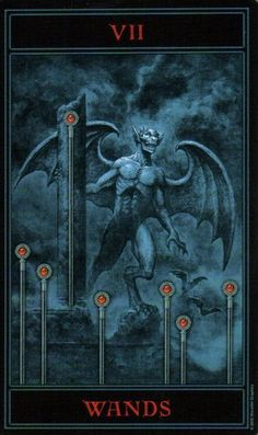 The Gothic Tarot: Seven of Wands