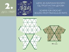 Schema Triangle Kleidung häkeln - crochet triangle dress pattern