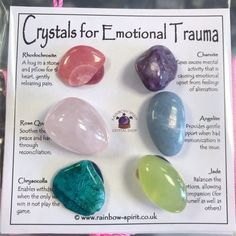 Crystals For Luck, Crystals And Gemstones, Stones And Crystals, Crystals For Kids, Crystal Healing Stones, Crystal Meanings, Crystal Shop, Natural Crystals, Trauma