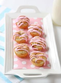 Perfect baby shower treat! Chocolate Chip Cookie Dough Pastry Puffs!