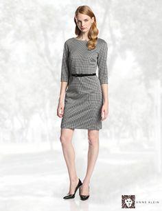 Anne Klein Women's Gingham Ponte Dress