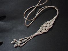HÇ1000 ayar gümüş kazaz telle yapılmış kolye