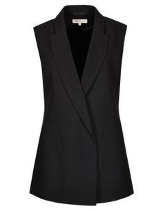 Buy the Sleeveless Blazer from Marks and Spencer's range. Sleevless Blazer, Blazer Vest, Sleeveless Jacket, Blazer Outfits, Blazer Fashion, Hijab Fashion, Casual Outfits, Fashion Outfits, Sleeveless Blazer Outfit