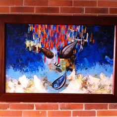 Título: Océano nocturno.   Formato:  130 x 100 cm  Técnica: Óleo y acrílico sobre lienzo. Año: 2014