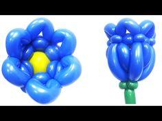 Цветок колокольчик из воздушных шаров - YouTube