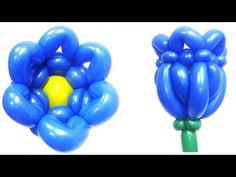 Колокольчик из шарика / One balloon Bluebell flower - YouTube