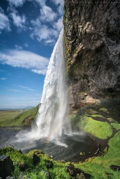 Seljalandsfoss, Iceland - Amazing places - For further information, a map, & photos: http://www.amazingplacesonearth.com/