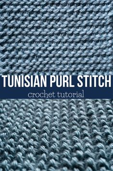 The Tunisian Purl Stitch looks almost the same as a knitted purl stitch, but it is made using crochet. Let's learn how to make the Tunisian Purl Stitch! Tunisian Crochet Blanket, Tunisian Crochet Patterns, Crochet Motifs, Crochet Cross, Crochet Granny, Knitting Patterns, Chevron Crochet, Diy Crochet, Honeycomb Stitch