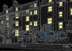Graphic art version of the back of Broadhurst Gardens (via Thaine Artwork (ETA)). My great grandparents used to live on Broadhurst Gardens 100 years ago. Jubilee Line, Great Grandparents, North London, Great Restaurants, Graphic Art, City Photo, Gardens, Live, Heart