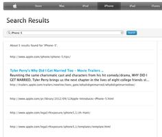Ooh, look what's showing up in Apple's search results