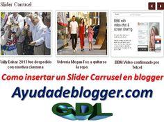 Como insertar un Slider Carrusel en blogger « Widgets y Plugins para Blogger