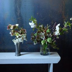 two matched bouquets