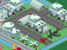 Simpsons Springfield, Springfield Tapped Out, The Simpsons Game, Games, Minecraft, Layout, Design Ideas, The Simpsons, Ideas