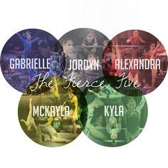 FIERCE FIVE: Gabby Douglas, Aly Raisman, McKayla Maroney, Jordyn Wieber, Kyla Ross