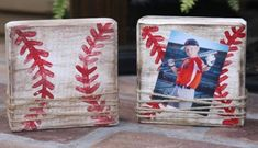 Small block picture frame baseball frame softball frame ---- I can do the same for Ry but make them Minecraft! Baseball Crafts, Baseball Party, Baseball Mom, Baseball Stuff, Baseball Signs, Baseball Equipment, Baseball Season, Baseball Wreaths, Baseball Videos
