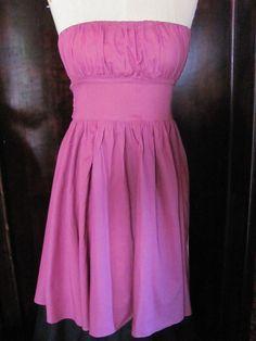 Necessary Objects Purple Strapless Dress Medium Cocktail #NecessaryObjects #EmpireWaist #Clubwear