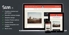 Sann - Timeline Oriented Personal Blog WP Theme - ThemeForest Item for Sale