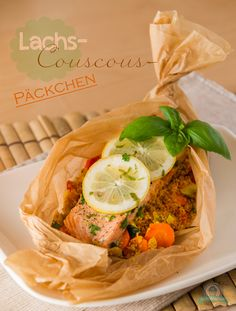 Lachs-Couscous Päckchen - Powered by @ultimaterecipe