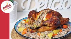 İç Pilavlı Tavuk Dolma | Fırında İç Pilavlı Tavuk