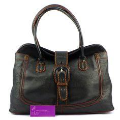 Tod's Shoulder Bag Black Color Leather Good Condition PriceRm4xxRef.code-(GORK-1) More Info Pls PM Or Email  ( luxuryvintagekl@ gmail.com )