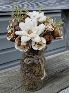 Sola Wood Flowers for DIY crafters, weddings, & home decor. Wood Flower Bouquet, Sola Wood Flowers, Wooden Flowers, Paper Flowers Diy, Dried Flowers, Flower Crafts, Mason Jar Flower Arrangements, Mason Jar Flowers, Flower Centerpieces