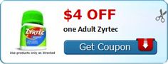 New Coupon!  $4.00 off one Adult Zyrtec - http://www.stacyssavings.com/new-coupon-4-00-off-one-adult-zyrtec-2/
