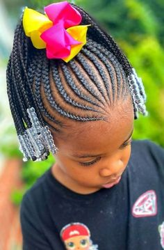 Young Girls Hairstyles, Little Girls Natural Hairstyles, Little Girl Braid Hairstyles, Toddler Braided Hairstyles, Black Kids Hairstyles, Baby Girl Hairstyles, Beautiful Hairstyles, Little Girl Braid Styles, Kid Braid Styles