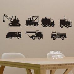 2014 kat techniek vrachtwagen machine jongen kinderkamer wanddecoratie stickers voor kinderen vintage posters