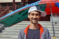 Włoski podróżnik-rowerzysta odwiedził Radio Kielce