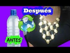 collar pulcera y aretes echos de botella de plastico ++necklace glue container - YouTube