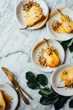 Honey Roasted Pears with Quinoa Nut Crunch