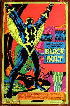 marvel third eye poster blacklight black bolt via Cool & Collected